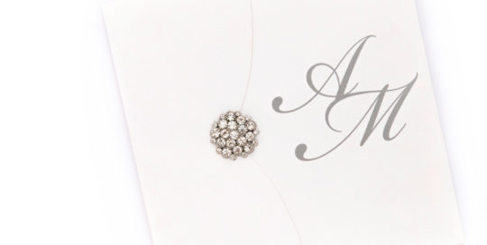 Luxury Silver Brooch invitations