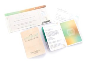 bespoke passport style invitations