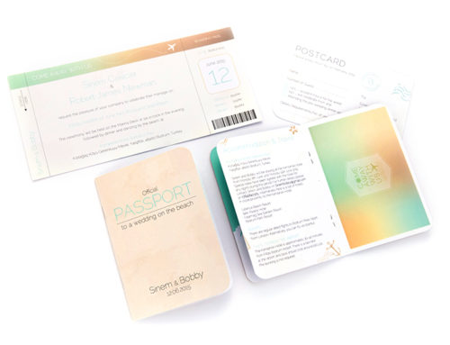Passport Style Wedding Invitations