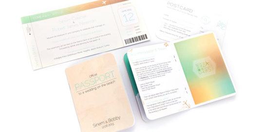 bespoke passport style invitations