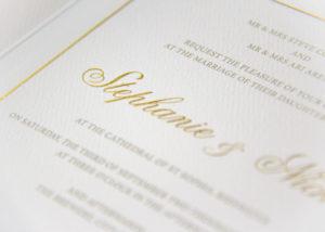 luxury bespoke gold invitations