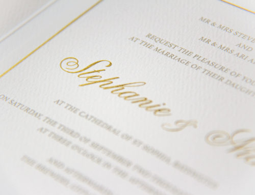 Luxury Gold Wedding Invitations
