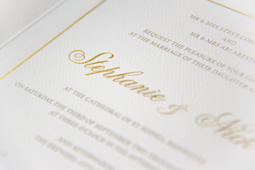 luxury bespoke gold invitations
