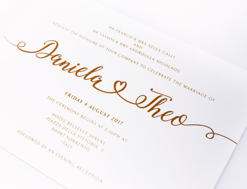 Calligraphy and Thermography Invites