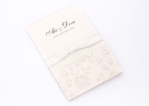 Ribbon and Lace Design Invitations
