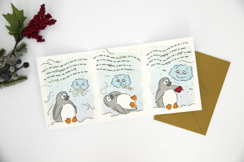 toffee christmas card story